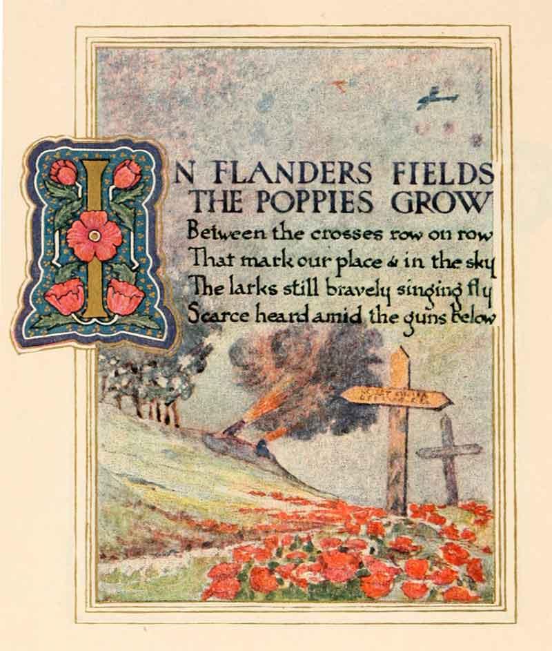 In Flanders Fields a poem by John McCray