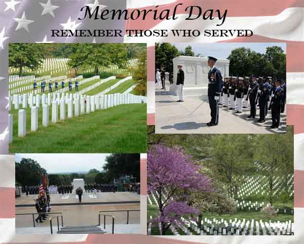 Memorial Day Group of Images from Arlington National Cemetary