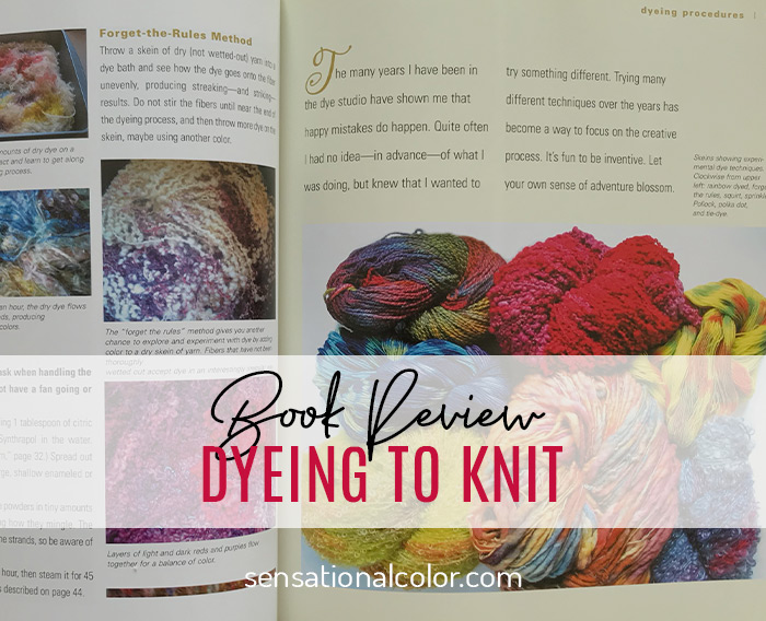 Title - Book Review of Dyeing to Knit