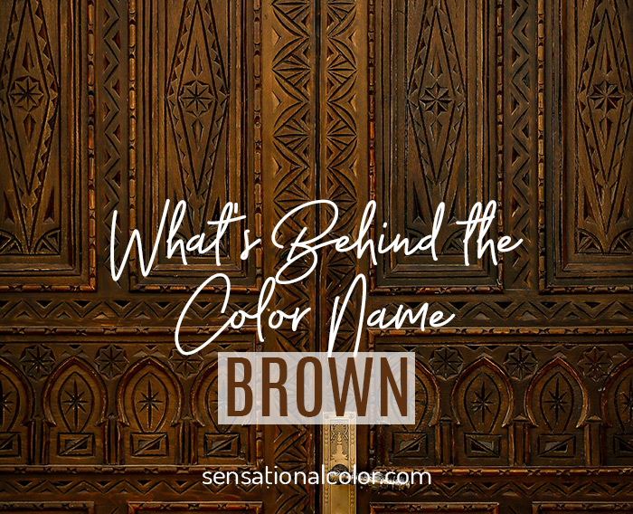 Title - What's Behind the Color Name Brown