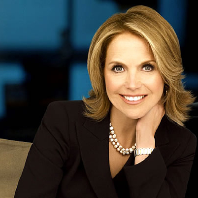 Katie Couric Wardrobe Black White