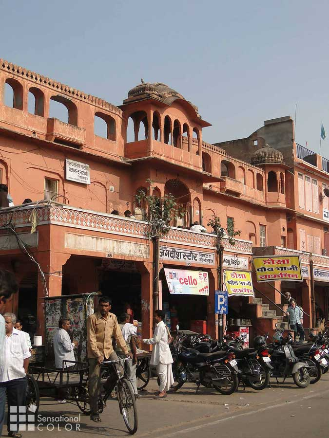 Street Scene in Jaipur The Pink City
