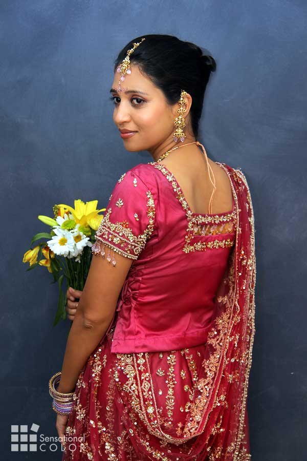 Beautiful Indian Bride Wearing Red