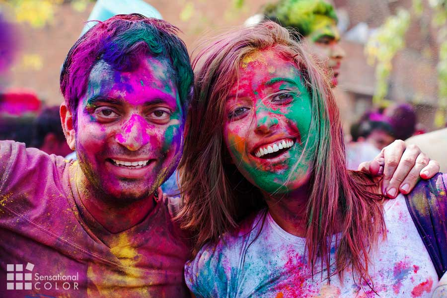 Holi festival of color celebrations in India