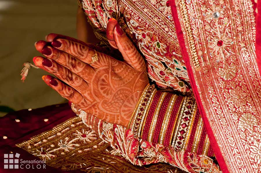 Meaning of the color red in India - wedding
