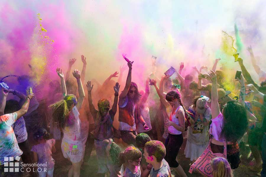People Celebrating Holi Festival Of Colors