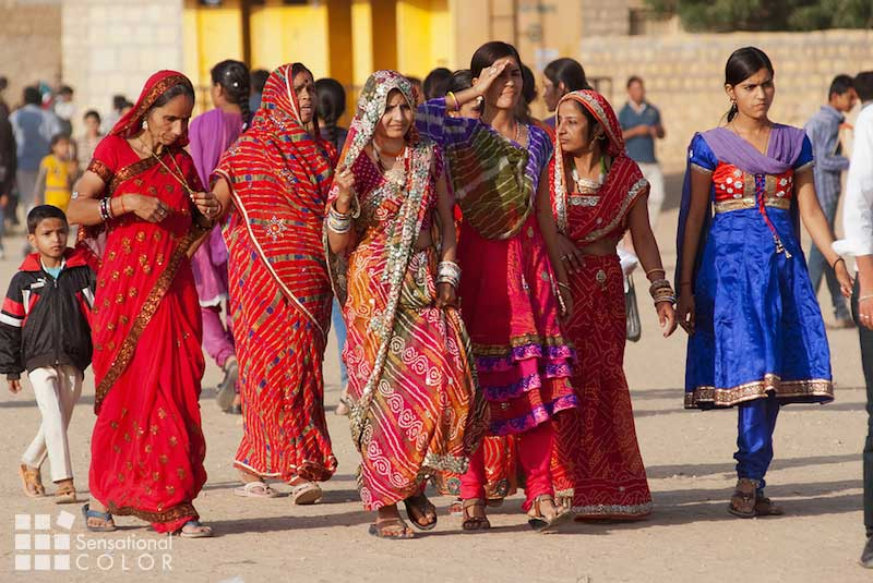 Indian Women Dressed Up For Desert Festival