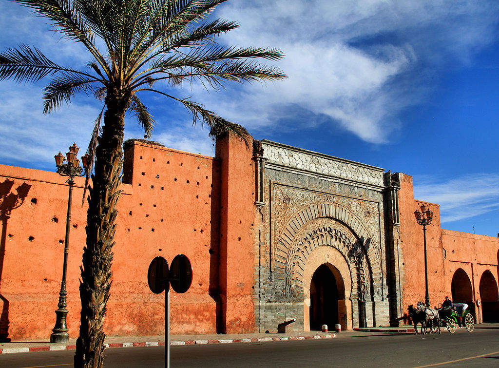 Africa | Marrakesh, Morocco The Rose City Or Red City - Bab-Aganou-gate