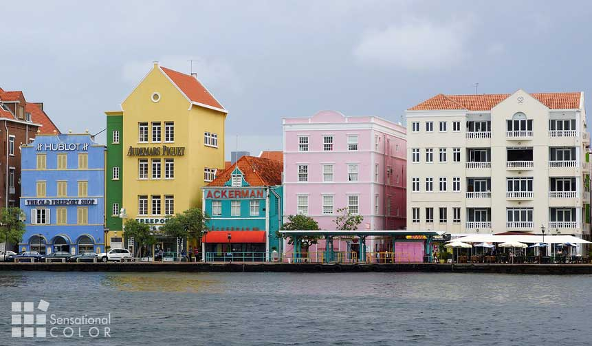 Willemstad Curacao Colors At The Waterfront