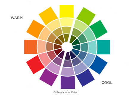 color temperature if a color is warm or cool may be relative