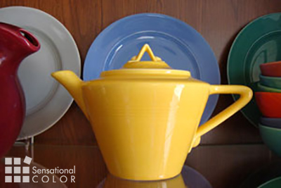 Yellow Accents Teapot