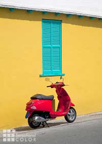 Bermuda Color Moped and Home