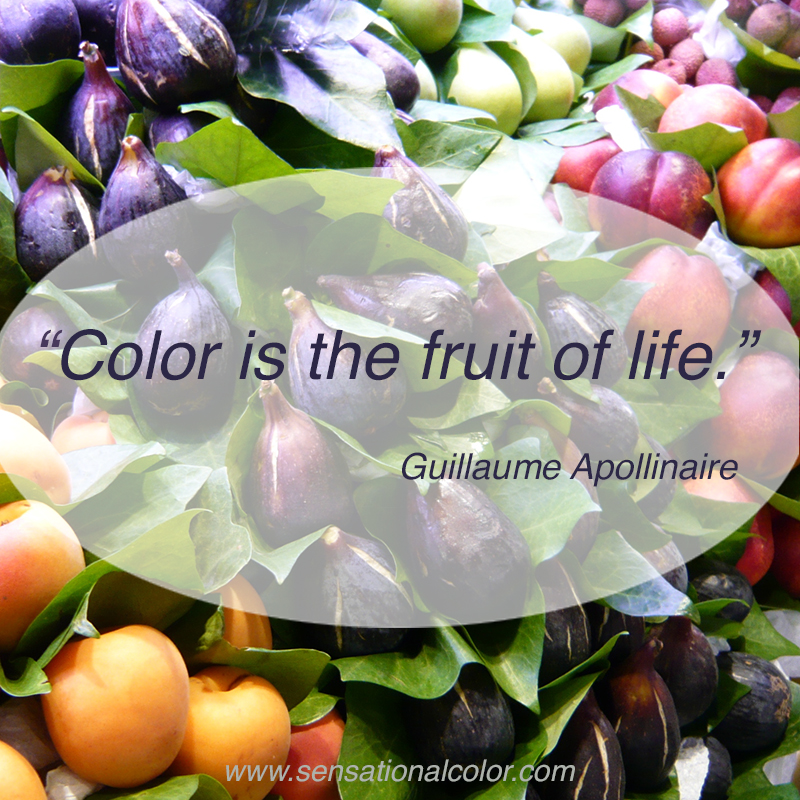 Quote About Color By Guillaume Apollinaire