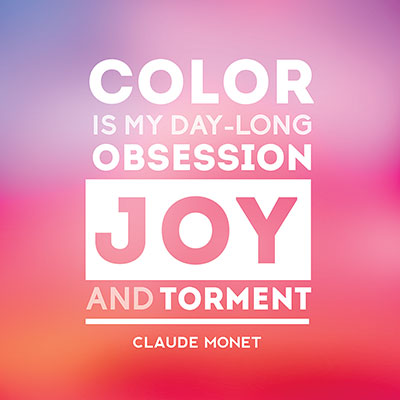 Quote About Color By Claude Monet