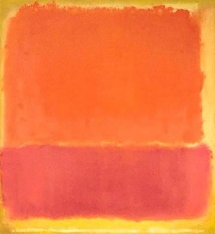 color scheme pink yellow orange rothko