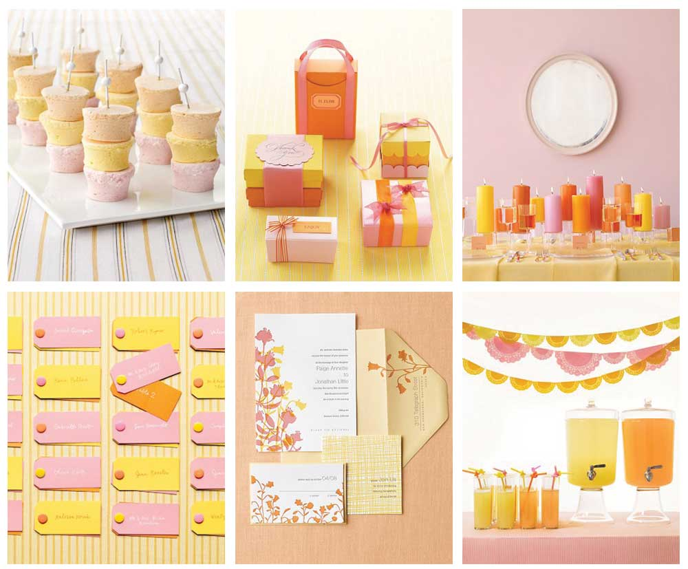 Design Yellow Color Schemes color scheme pink yellow orange wedding