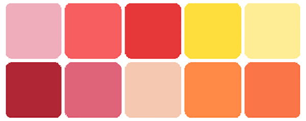Color scheme pink yellow orange - Which color matches with pink ...