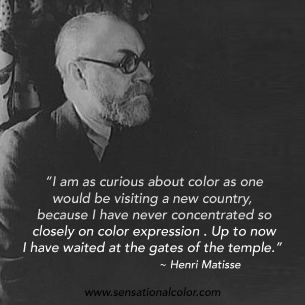 Quote About Color by Henri Matisse