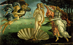 Birthstone for May: Emerald - Botticelli Birth of Venus