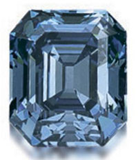 Birthstone for April: Diamond - Hong Kong Blue Diamond