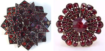 Birthstone for January: Garnet - Victorian Garnet Brooch