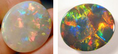 Birthstone for October: Opal - White and Black Opal