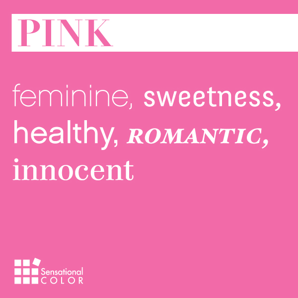 Words That Describe Pink Sensational Color