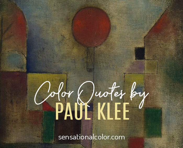 Color Quotes by Paul Klee
