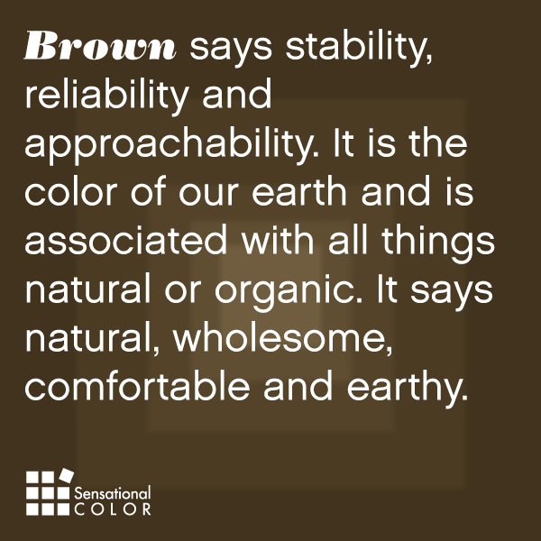 meaning of the color brown sensational color