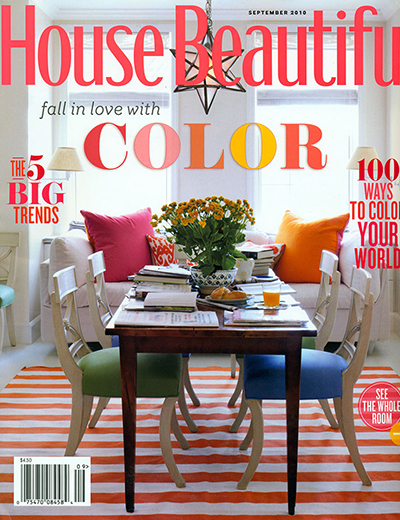 House Beautiful Sept 2010 Cover
