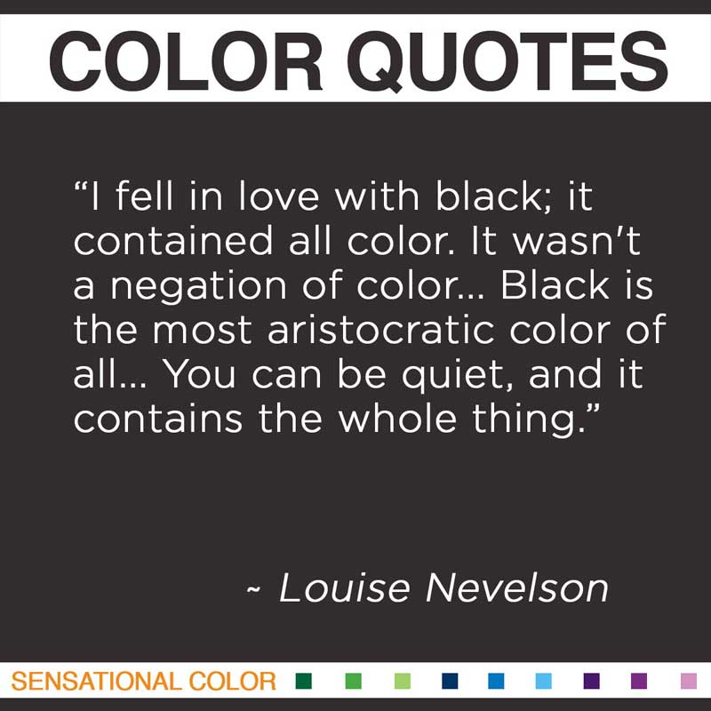 On Earth Seeing Some Of Use Color Louise Nevelson