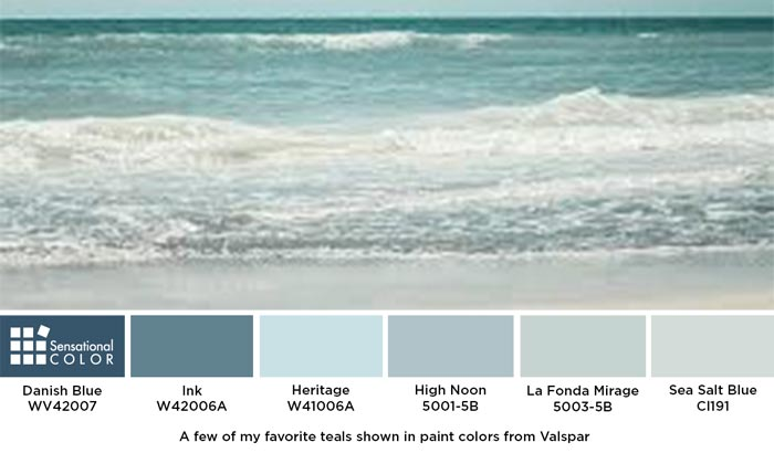 Blue-Green aka Teal Paint from Valspar that is perfect for your home's exterior