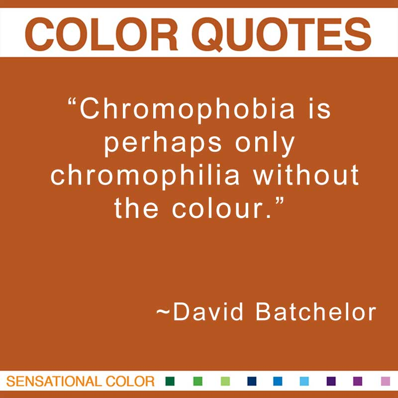 "Quotes About Color - ""Chromophobia is perhaps only chromophilia without the colour."" ~ David Batchelor"