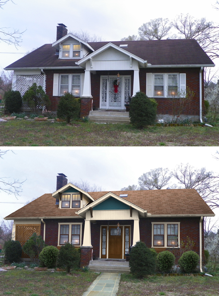 Insider look at shake it up makeover marquis cayce of nashville tn sensational color for Before and after home exteriors remodels