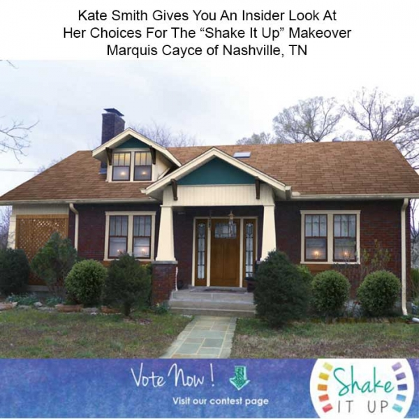 "Before & After Home Makeover: Marquis Cayce of Nashville, TN ""Shake it Up"" Exterior Color Contest Finalist"