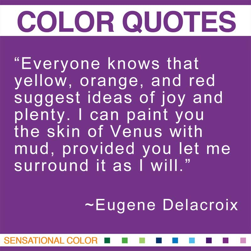 Quotes About Color By Eugene Delacroix