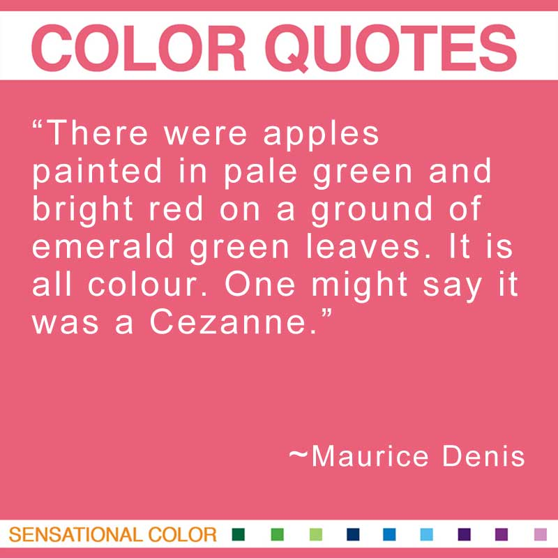 cézannes apple notes and quotes Paul cezanne: facts and information posted on february 22, 2013 by james • 26 comments here are some facts about paul cezanne, the famous french post.