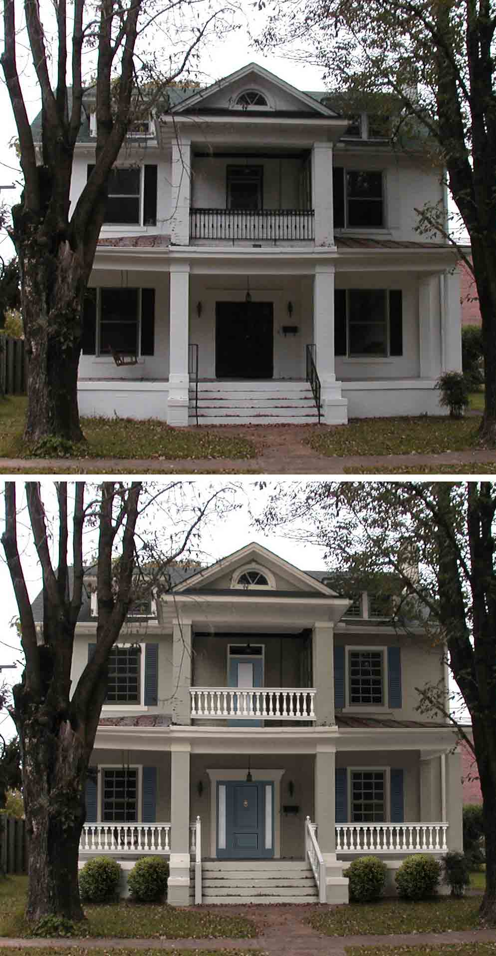 "Before & After Home Makeover: Dennis Hodkinson Of Paris, TN ""Shake it Up"" Exterior Color Contest Finalist"
