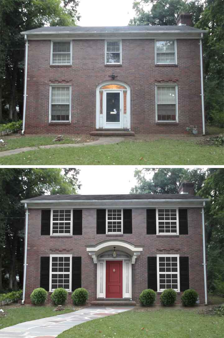 "Before & After Home Makeover: Holly Ludwig Roark Of Owensboro, Ky ""Shake it Up"" Exterior Color Contest Finalist"
