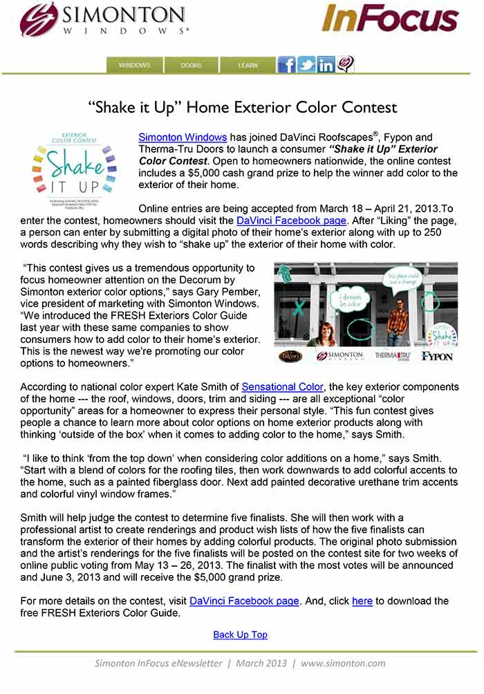Infocus eNewsletter: In this issue National Window Safety Week
