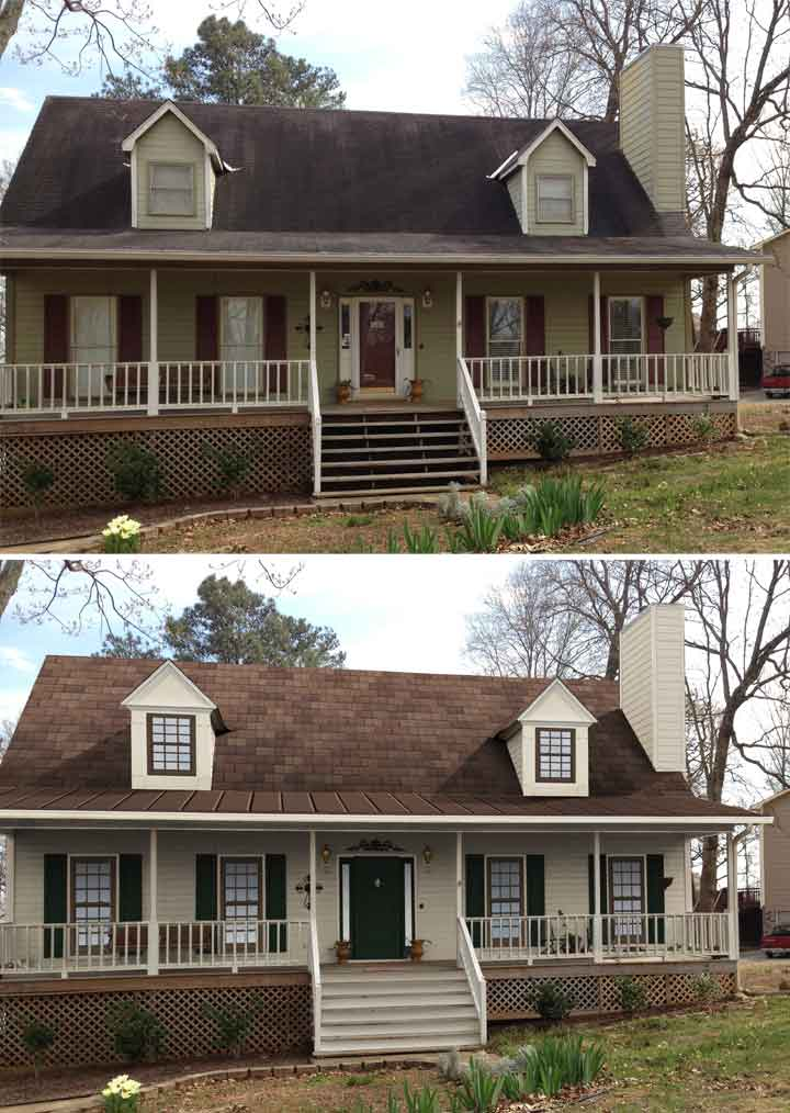 "Before & After Home Makeover: Russ Wade Of Hoover, AL ""Shake it Up"" Exterior Color Contest Finalist"