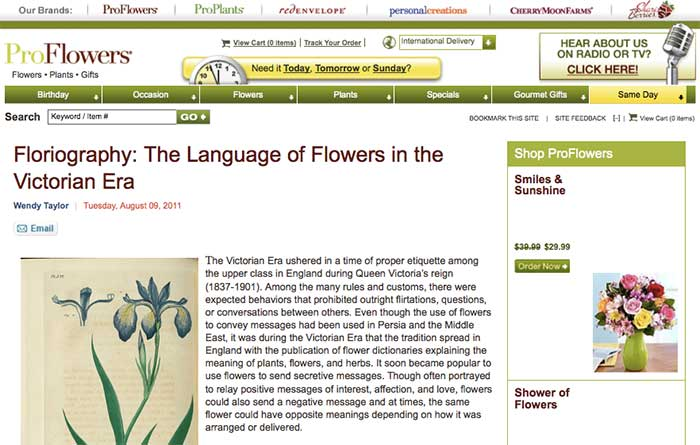 Features of Victorian Era Flower Arrangements