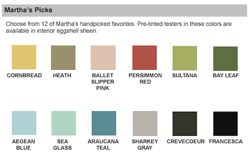 Martha Stewart Exterior Paint Colors Home Depot From Martha Stewart