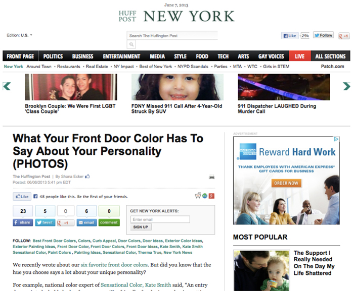 Huffington Post What Your Front Door Color Has To Say About Your Personality