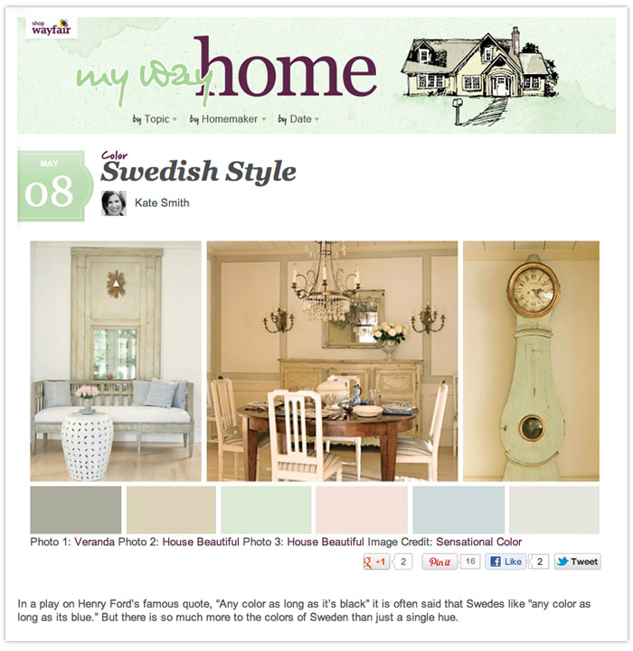 Wayfair.com 'My Way Home' Blog