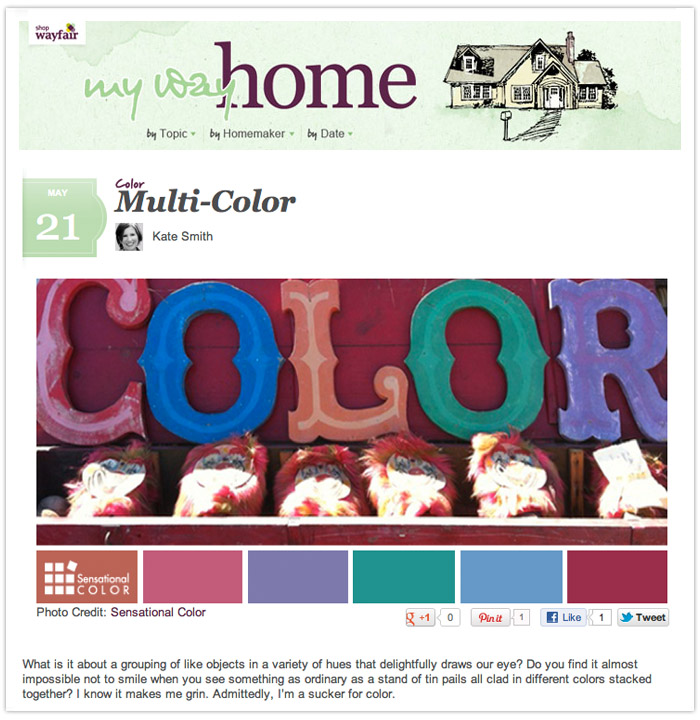 Delightfully Multi-Colored |  Wayfair.com 'My Way Home' Blog