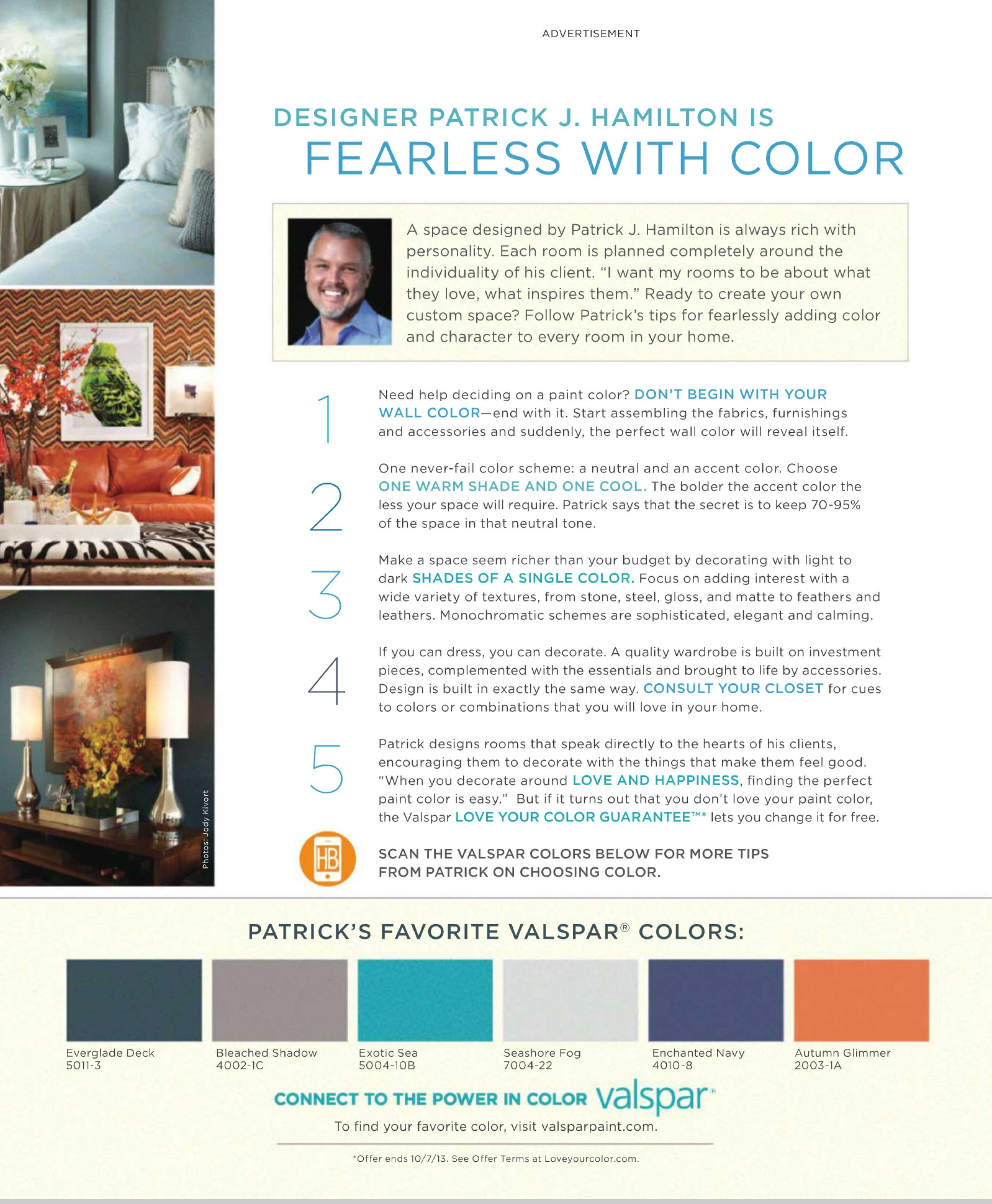 Designer Patrick Hamilton is fearless with color