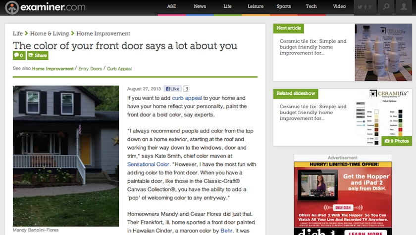 The color of your front door says a lot about you