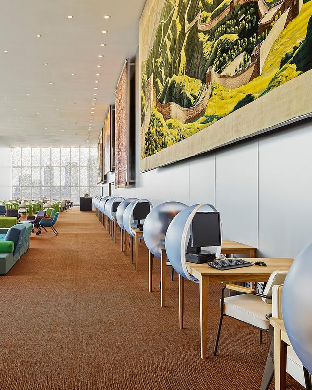 UN Delegates Lounge design by JongeriusLab