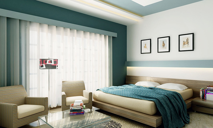 Waking up well rested may depend on the color of your for Best bedroom pictures